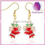 Europe &American style fashion christmas gift jingle ball enamel fishhook earring factory price