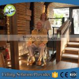 Hydraulic lifts for disabled people home elevator vertical wheelchair platform lift for SALE