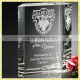 Cheap Wedding Anniversary Gift Clear Engraved Crystal Book Trophy For Wedding Souvenirs Gifts