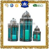 moroccan metal lanterns green color glass