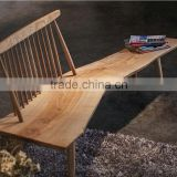Restaurant solid wood bench seat in cheap price