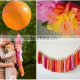 NEW party decoration kit - fiesta themed party - 2 giant 36' balloons with tassels + 10 pom poms + tassel garland