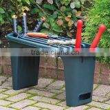 Outdoor Portable padded stool tools Garden kneeler seat chair bench with tool storage and cushion