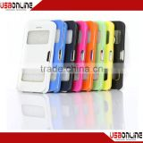 2014 hot selling colorful ultrathin magnetic snap leather sheath holster case for iphone iphone 5C iphone 5s white
