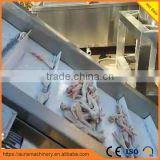 automatic poultry feet processing line duck paw chicken feet peeler peeling cutting machine