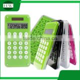 promotion custom mini portable plastic kids square pocket solar scientific counter calculator with maze game