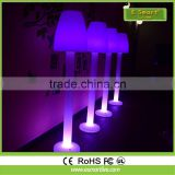 2017 New bright floor standing lamp/led PE plastic floorlamp with rechargeable