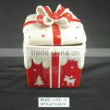 Promotion Gift Ceramic Christmas Round Gift Box