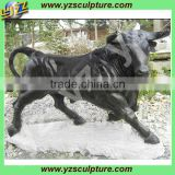 outdoor stone life size bull animal statue for sale
