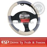 #19574 38cm diameter Genuine Leather Cool Steering wheel cover