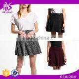2016 China MAnufacturer Shandao New Facy Design Women Casual Summer Short Ruffle High Waist Yarn Dyed Cotton A Line Skirt