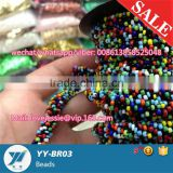 2mm 3mm 3.6mm opaque colours seed cording cord glass beads roll embroidery bead round bead 2cut bead