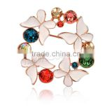 Latest Design Butterfly Flower Rhinestone Brooch Women