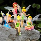 Hot Disny figure dolls Tinker Bell PVC figure, Lovely dolls for kids,Tinker Bell action figure set of 6pcs