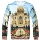 china wholesale fashion sublimation long sleeves 100% microfiber polyester t shirt