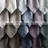 table linen napkins /linen napkins/wedding napkins with stone washing ;yarn dyeing; hemstitching