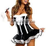 hot and latest adult french maid costume halloween costume french maid costume pattern AGC2008