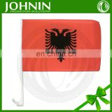 cheap promotional polyester customized flying car mirror flag albania