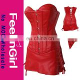 Wholesale Red Plus Size Sexy Leather Catsuit