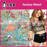 factory direct produce 3D embroidery tulle lace fabric wholesale