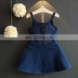 Summer Fashion girls colour Denim Dress