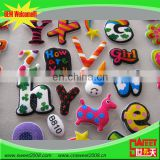 colorful plastic letters and animals foam sticker