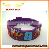 popular embossed logo soft pvc wristband