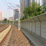 Railway noise barrier