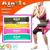 "Bodybuilding Fitness 12x2"" 4 levels Latex Workout Resistance Band,Custom Printed Resistance Exercise Bands"