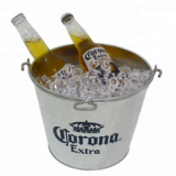 Galvanized Metal Beer Beverage Corona ice bucket