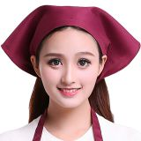 Work headscarf hat japanese style kitchen restaurant hot pot shop triangle scarf chef hat