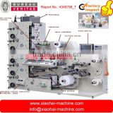 label printing machine with corona, 5 IR dryers , Hot Air, lamination, die cutter, matrix remover, slitter