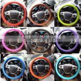 Waterproof green/black/pink steering wheel cover, Design your steering wheel cover fashionable
