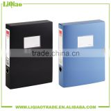 Black&blue A4 PP lever arch file folder with magnetic button