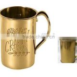 2016 16 Ounce (450ml) 100% pure copper moscow mule copper Mug with stamp logo (Accept OEM)
