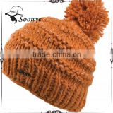 100% Acrylic knit beanie boo wholesale knitted beanie hat