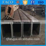 Tianjin square rectangular pipe ! hdpe pipe welding en10219 black rectangular tube/rhs steel tube