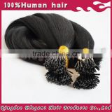 Best quality i tip hair indian remy pre bonded hair extensions i tip 100% virgin indian remy hair