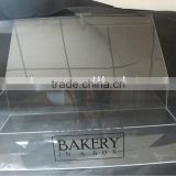 customized clear retail countertop acrylic cake display box bakery/pastry/cookie storage case