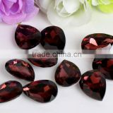 Wire Red Excellent Quality Wholesales Point Back Loose Shapes Teardrop Crystal Glass Beads for Jewelry Decorating Cheap