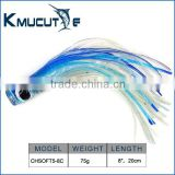China Plastic Soft Octopus Trolling Fishing Lure Skirts for big game