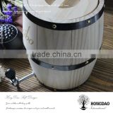 HONGDAO 2016 New Year promotion pine wood wine barrel with stainless steel liner