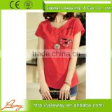 ladies t-shirt print design 2014 latest new design model cotton t-shirts printing