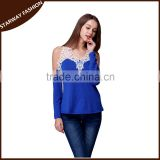 Women's Long Sleeve Loose Shirt lady Blouse Tops/