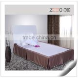High Grade Decorative Fabrics Custom Five Pleats Hotel Bed Skirt in Guangzhou                                                                         Quality Choice