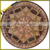 Customized cheap Chinese medallion mosaic, colorful mixed granite stone marble inlay tiles