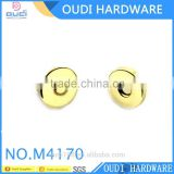 Shiny light gold 10mm magnetic snap fashion design for top grade women handbag making accessories