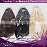 new design cheap price clip-in brown fringe hair bang