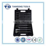 TG Tools Stone working drilling tool set 13pcs SDS hammer drill,Chisel accesory set in Metal box