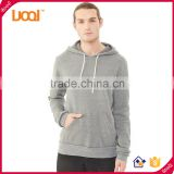 Oem Wholesale Custom Sping Autumu 100% Cotton Plain Dyed Longline Blank Pullover Zip Hoodies